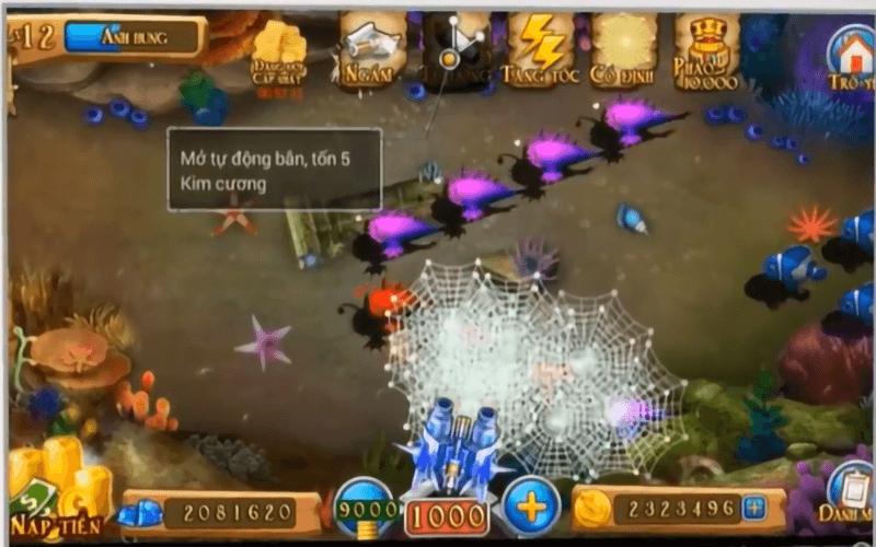 Tính năng tự động bắn hỗ trợ người chơi tối ưu