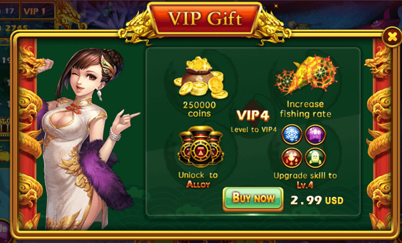 vip gift ban ca trung quoc